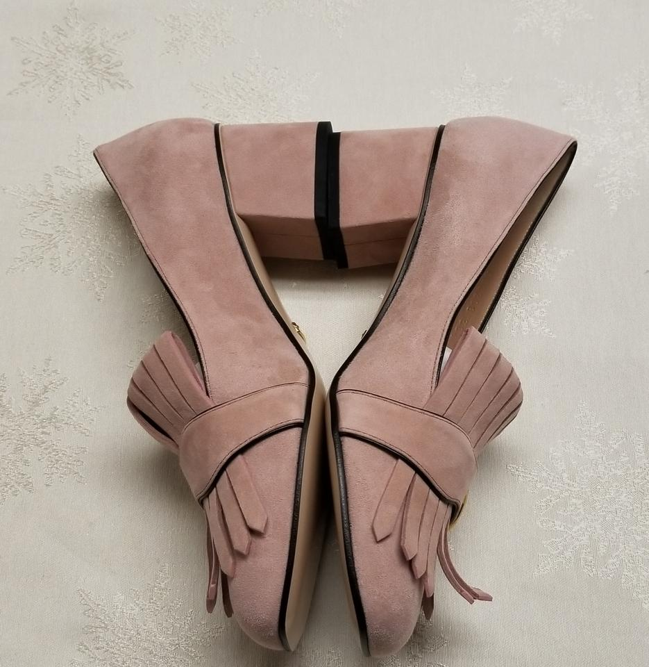 c22d8b05a Gucci Pink Marmont Gg Suede Loafer Pumps Size EU 38.5 (Approx. US ...