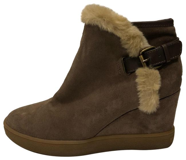 Item - Taupe New Cameron Weather Proof Faux Fur Wedge Boots/Booties Size US 7.5 Regular (M, B)