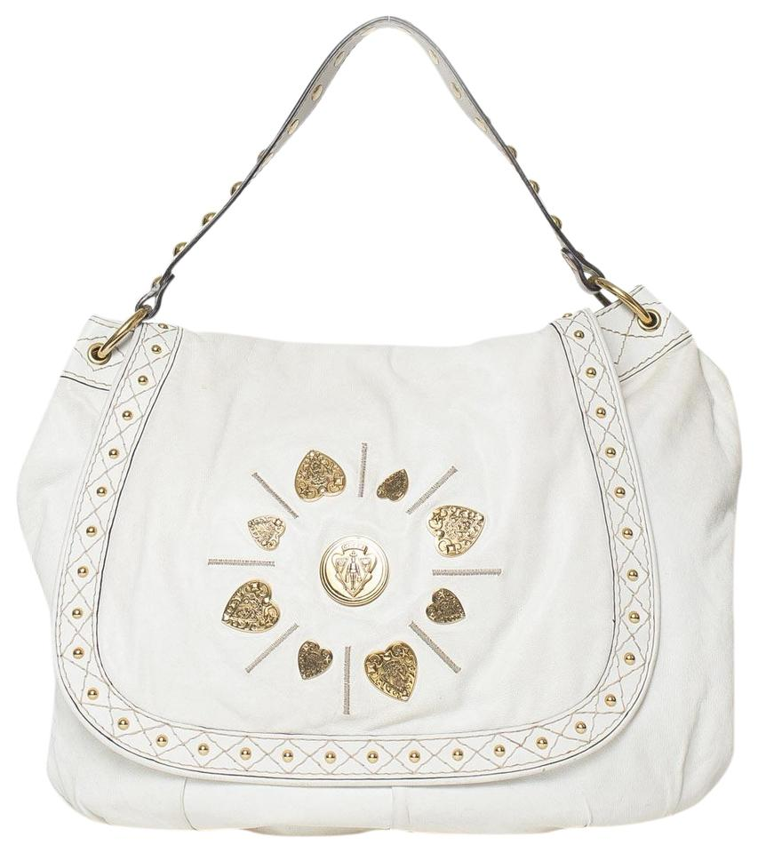 a435ab56d Gucci Irina Studded White Leather Shoulder Bag - Tradesy