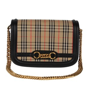 Burberry Checkered Leather Chain Shoulder Bag