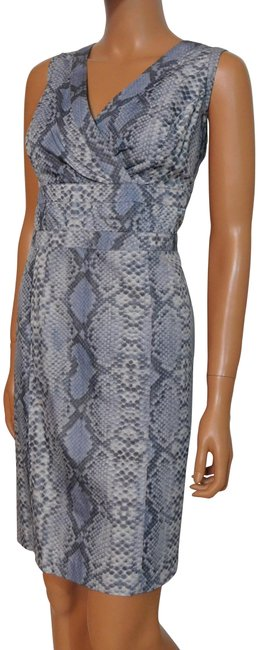 Item - Blue Sleeveless Sheath Short Work/Office Dress Size 14 (L)