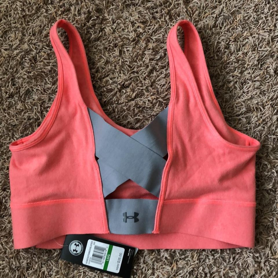 af77fe492b Under Armour Pink and Grey Collection Activewear Sports Bra Size 12 ...