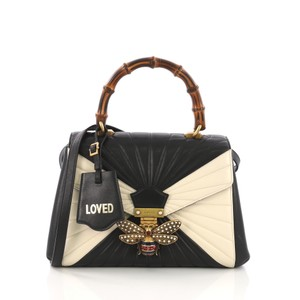 Gucci Leather Satchel in black and white