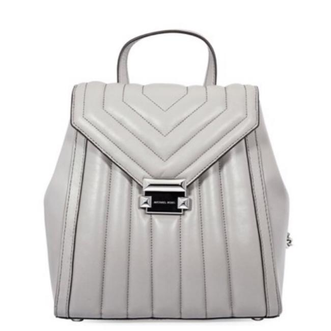 Item - Quilted Pearl Grey Leather Backpack
