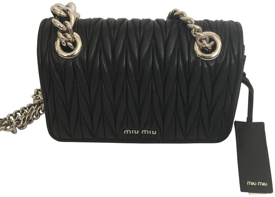 Miu Miu Pattina Matelasse Quilted Black Leather Cross Body Bag - Tradesy 0e65be0ae7f6f
