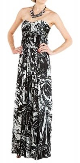Preload https://item3.tradesy.com/images/bcbgmaxazria-blackwhite-empire-waisted-silk-maxi-long-formal-dress-size-4-s-24892-0-0.jpg?width=400&height=650