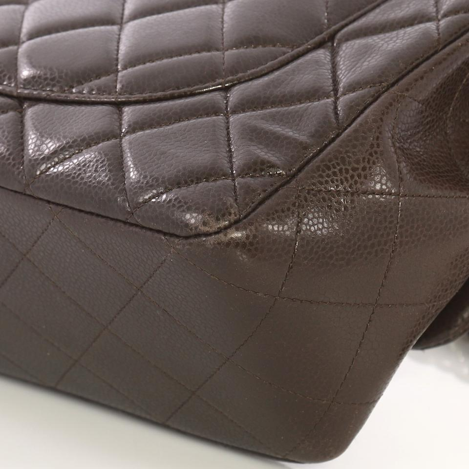 10962842dd4f Chanel Classic Flap Classic Single Quilted Caviar Jumbo Brown Leather Cross  Body Bag - Tradesy