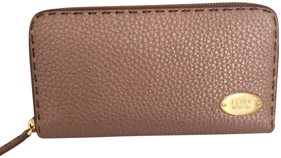 df25143c9f71 Fendi Bois De Rose Selleria Zip Around Leather Wallet - Tradesy
