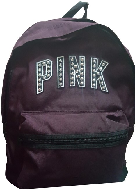Item - Campus Bling Black Orchid Studs Backpack