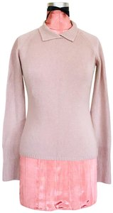 Cruciani Cashmere Stand Up Fold Over Collar Italy Sweater