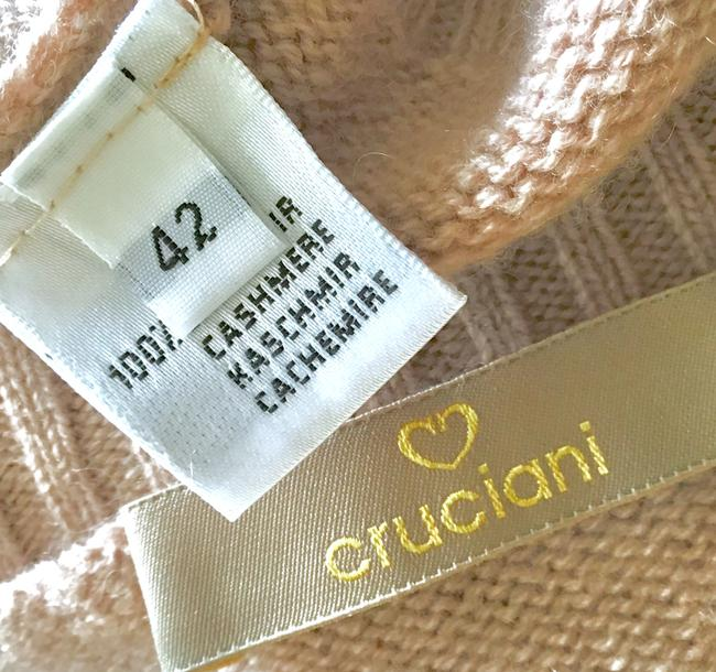 san francisco 45ba0 701d0 cruciani Cashmere Over Collar Made In Italy M Pale Mauve/ Nude Sweater 75%  off retail
