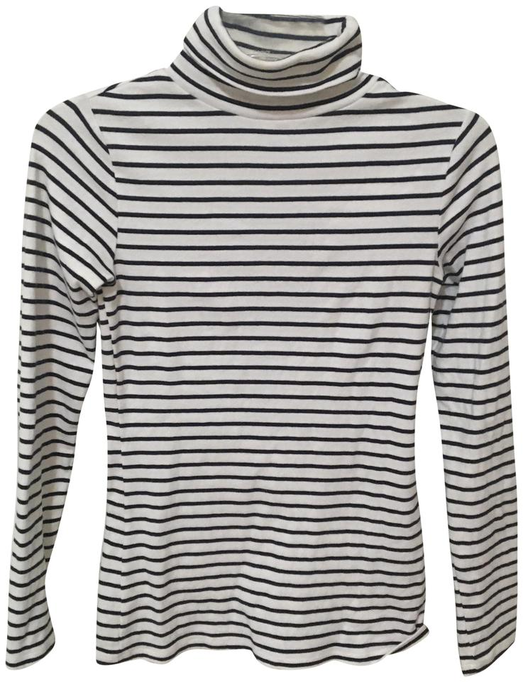 09e0ab50d7 Boden Navy and White Rollneck Striped Tee Shirt Size 2 (XS) - Tradesy