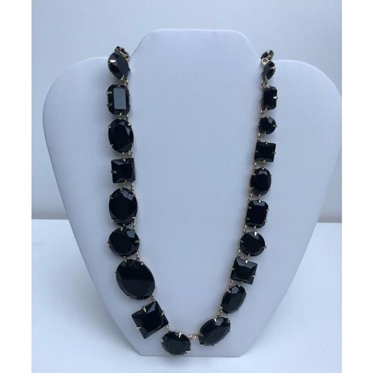 Etienne Aigner New Crystal Glass Statement Necklace Image 2