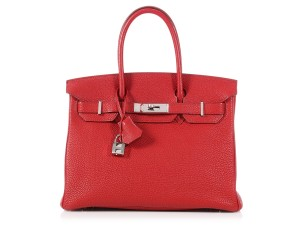 Hermès Togo 30 Leather Hr.q0118.03 Reduced Price Satchel in Red