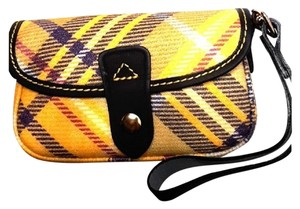 Dooney & Bourke New With Tags Plaid Dooneybourke Wristlet in Yellow/Black/Multicolor