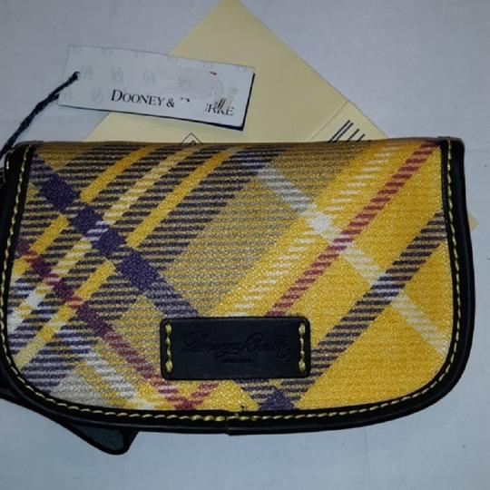 Dooney & Bourke New With Tags Plaid Dooneybourke Wristlet in Yellow/Black/Multicolor Image 1