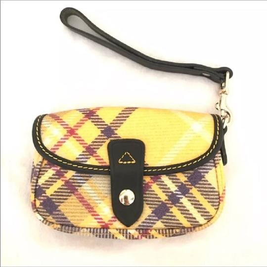 Dooney & Bourke New With Tags Plaid Dooneybourke Wristlet in Yellow/Black/Multicolor Image 2
