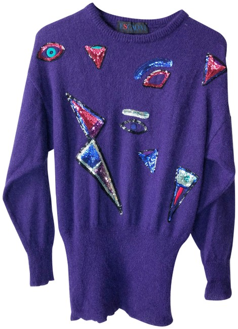 Escada Embellished Sequin Vintage Mohair Wool Sweater Image 0