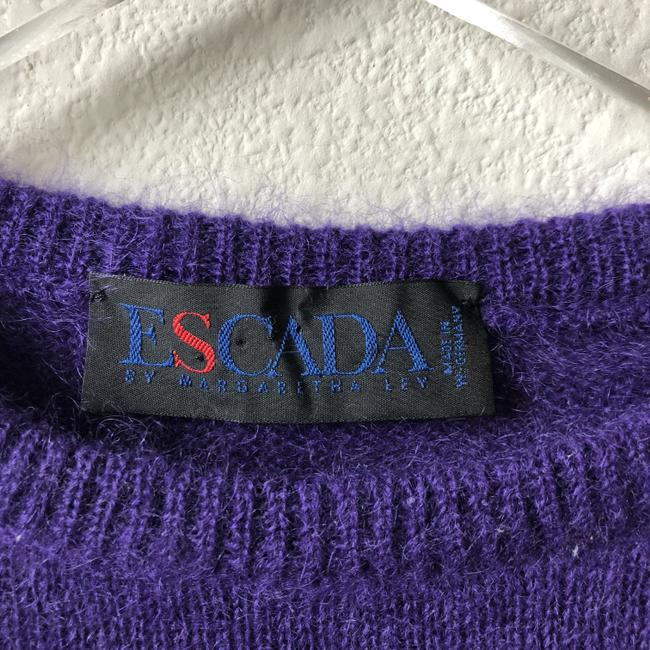 Escada Embellished Sequin Vintage Mohair Wool Sweater Image 2