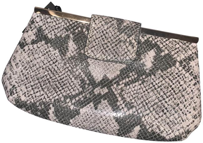 Item - Shoulder Bag Snakeskin 434655 Palomino/Gray Leather Clutch
