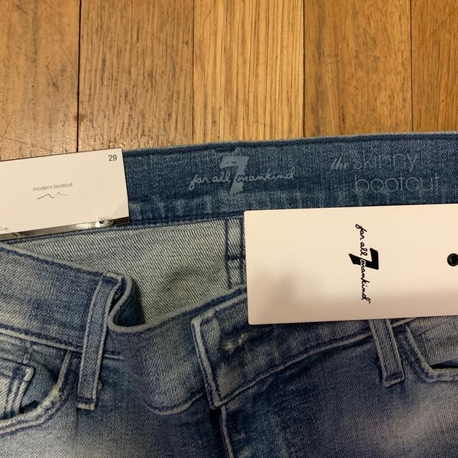 7 For All Mankind Boot Cut Jeans-Light Wash Image 4