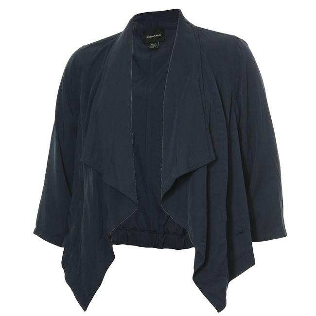 Item - Blue 14/16w 3/4 Sleeve Open Drape Front Lightweight Jacket Size 16 (XL, Plus 0x)