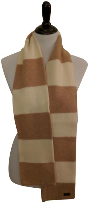 Item - Beige and White Striped Scarf/Wrap