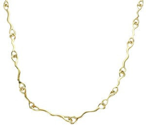 Tiffany & Co. 1979 18k Yellow Gold Fancy Long Wave Link Necklace