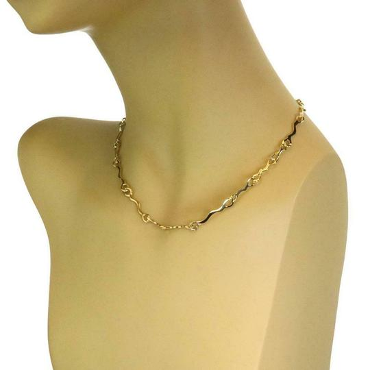 Tiffany & Co. 1979 18k Yellow Gold Fancy Long Wave Link Necklace Image 1