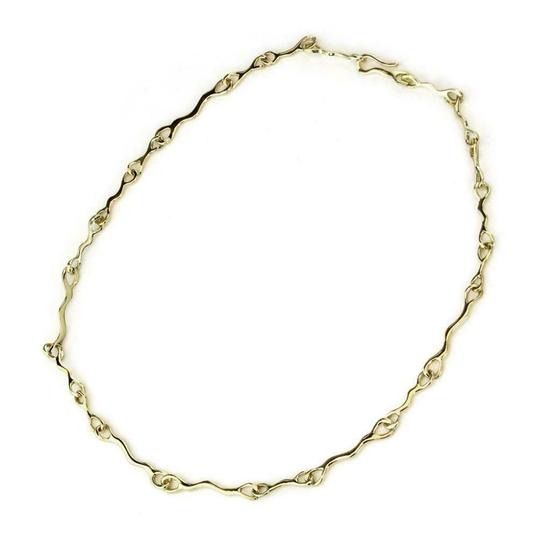 Tiffany & Co. 1979 18k Yellow Gold Fancy Long Wave Link Necklace Image 2