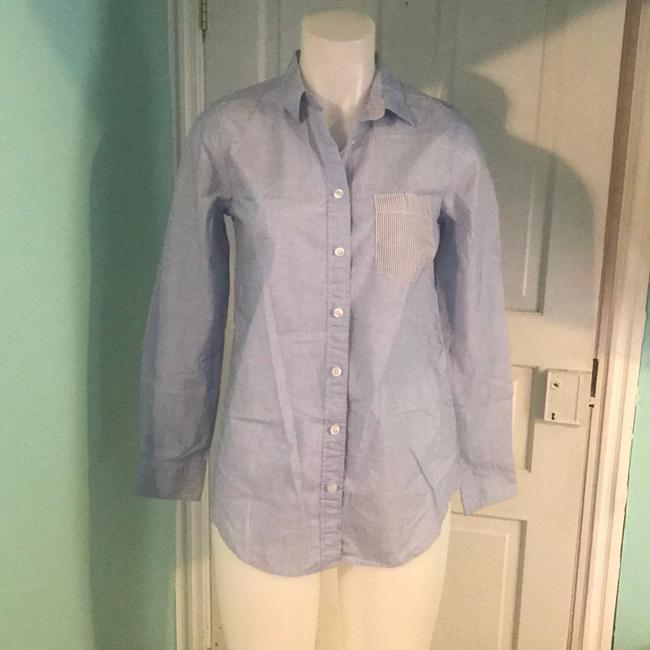 J.Crew Crew Contrast-striped Oxford Button Down Shirt Image 1