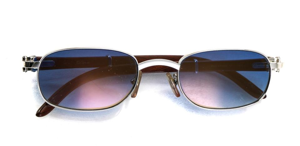 813279428e Cartier African Bubinga Wood and Platinum Coated Camarat Eye Wear ...
