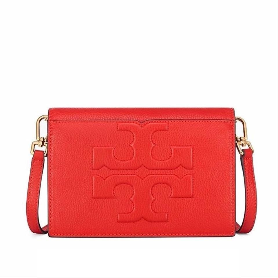 fdfe59a899e Tory Burch Bombe T   Combo Red Leather Cross Body Bag - Tradesy