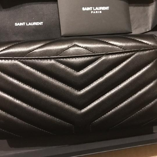 Saint Laurent Quilted textured-leather wallet Image 6