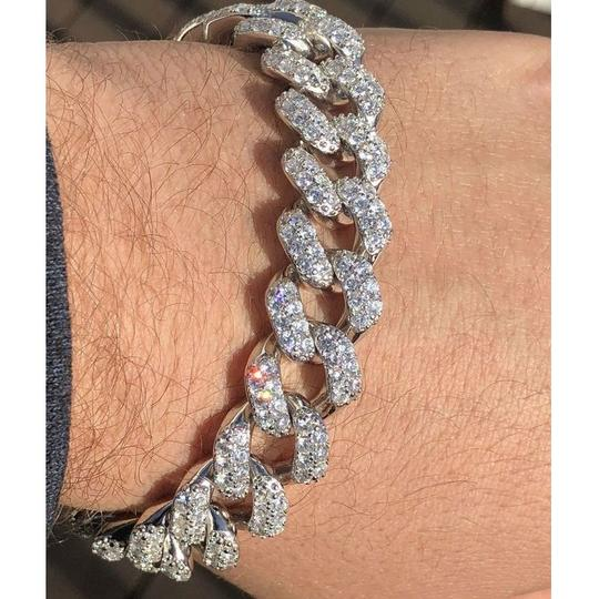 Harlembling Mens Miami Cuban Link Bracelet Real Solid 925 Silver HEAVY 15mm Iced Image 2
