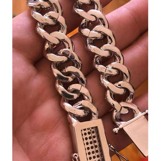 Harlembling Mens Miami Cuban Link Bracelet Real Solid 925 Silver HEAVY 15mm Iced Image 4