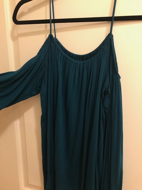 Bailey 44 Anthropologie Cold Shoulder Top Turquoise Image 1