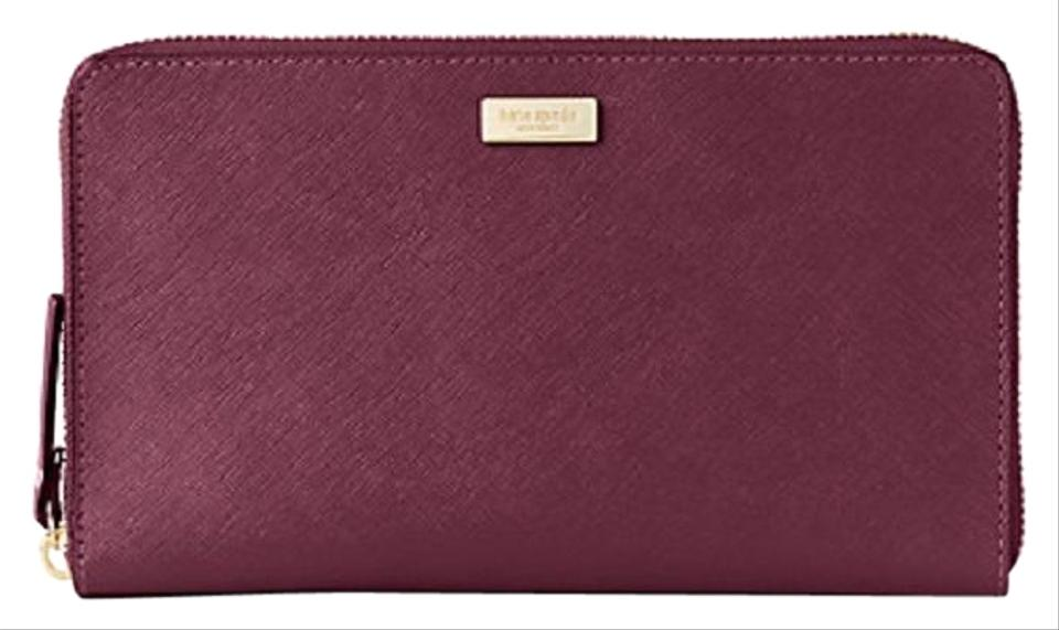 6359ea2ddaea Kate Spade Deep Plum Laurel Way Kaden Large Wallet