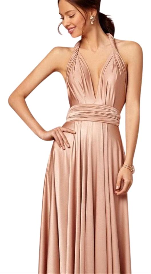 f21131ba07f0 Twobirds Rose Gold Rosewater Pearl/Rose Long Formal Dress Size OS ...