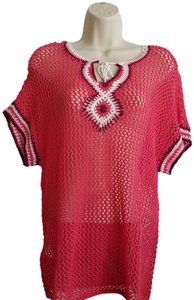 Tommy Bahama Swim Coverup Crochet Knit Embroidered