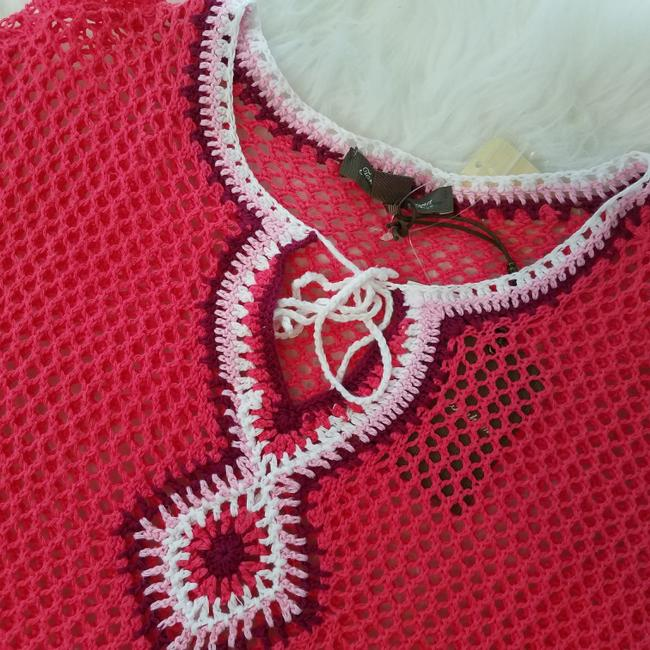 Tommy Bahama Swim Coverup Crochet Knit Embroidered Image 3