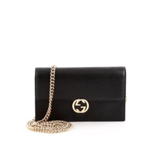 85a7a57f4 Added to Shopping Bag. Gucci Chain Cross Body Bag. Gucci Chain Wallet  Interlocking Gg Iconic Black Leather ...