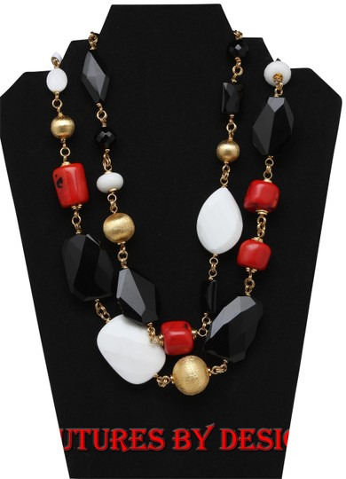 Preload https://img-static.tradesy.com/item/24893675/st-john-coral-black-white-gold-chunky-necklace-0-2-540-540.jpg