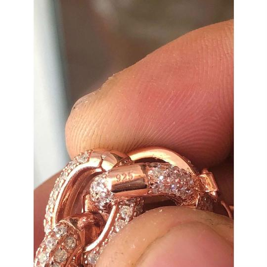 Harlembling Rose Gold Over Solid 925 Sterling Silver Mens Thick Heavy Rolo Chain Image 1