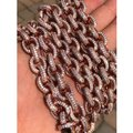 Harlembling Rose Gold Over Solid 925 Sterling Silver Mens Thick Heavy Rolo Chain Image 3