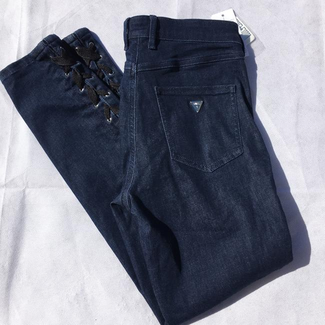 Guess #lace #stretch Skinny Jeans-Dark Rinse Image 3