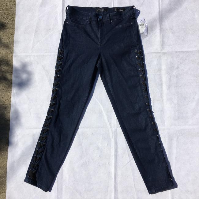 Guess #lace #stretch Skinny Jeans-Dark Rinse Image 7