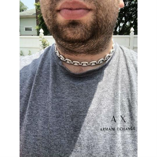 Harlembling Solid 925 Sterling Silver Men's Gucci Link Choker Chain 18