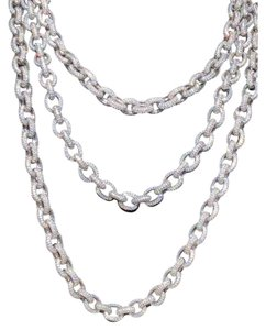 Harlembling Solid 925 Sterling Silver Mens Thick Heavy Rolo Chain Diamonds ICED