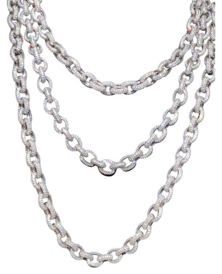 Preload https://img-static.tradesy.com/item/24893845/solid-925-sterling-silver-mens-thick-heavy-rolo-chain-diamonds-iced-0-2-540-540.jpg
